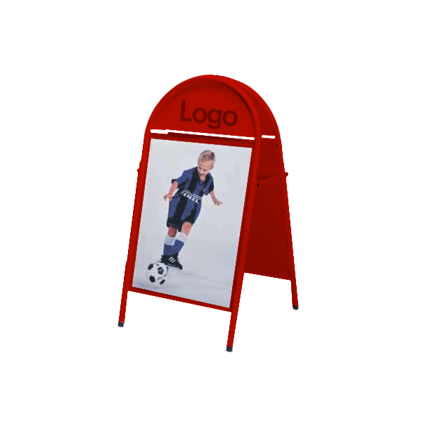 Top Sign 50x70 red stilren gatupratare
