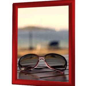affischram A4 röd snäppram
