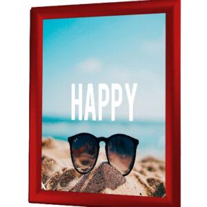 affischram 50x70 röd snäppram