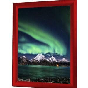 affischram 70x100 röd snäppram